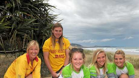 TREE planting by 2010 Mudjimba SLSC members (from left) Jacqui Burns, Kye Burke, Sammy Burns, India Tanner and Keats Hore, is an example of the club's strong commitment to community and environment. PHOTO CHE CHAPMAN
