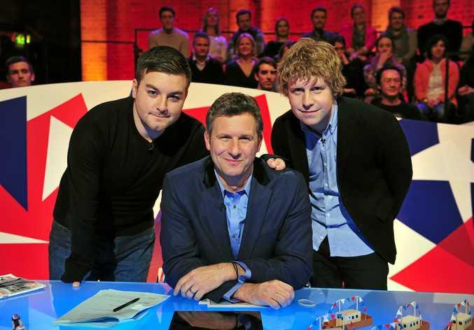 Alex Brooker, Adam Hills and Josh Widdecombe star in the TV series The Last Leg.