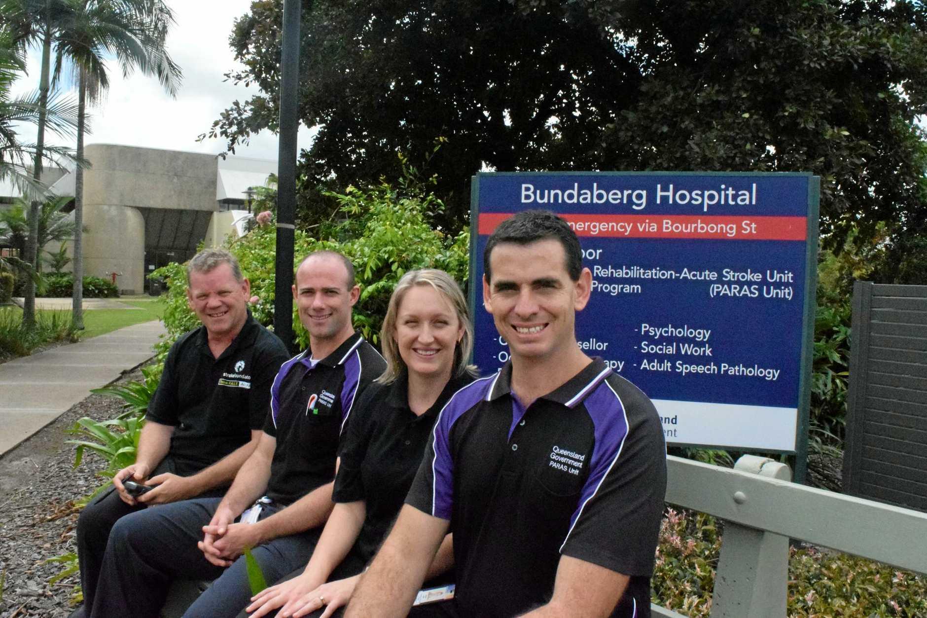 ROLE MODELS: Bundaberg Hospital PARAS Unit's Robert Scott, Daniel Somerfield, Ashton Isles and Shane Isles.