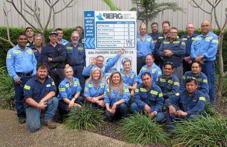 Berg Engineering Gladstone celebrated four years lost time injury free this week.