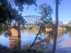 Alexandra Railway Bridge crossing the Fitzroy River.