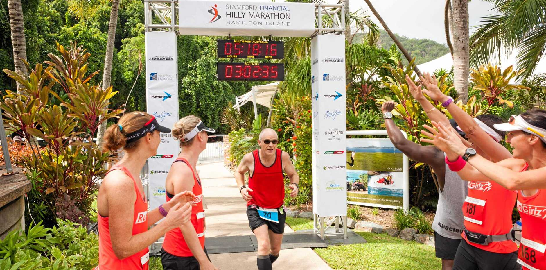 Road Runner Martin Lambert runs six times a week and said his favourite place to compete at is Hamilton Island.
