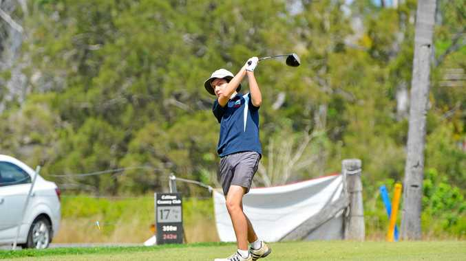 Isaak Jensen, 10, at the Calliope Junior Golf Open.