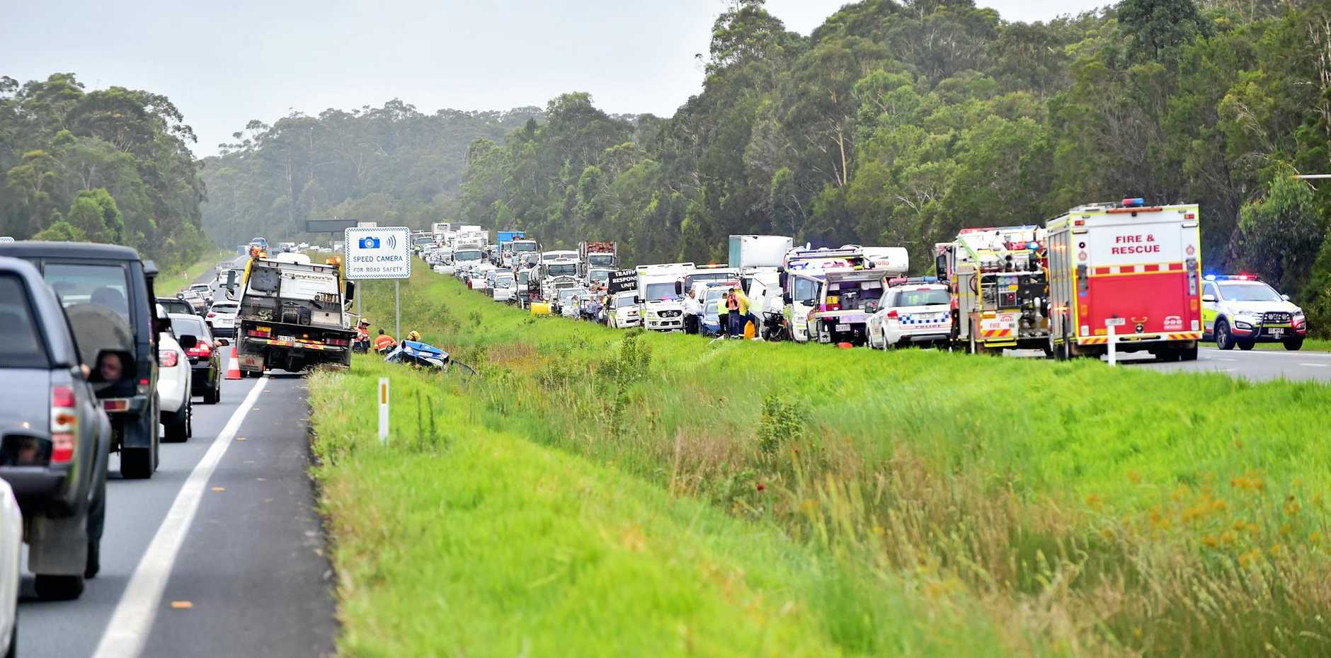 SOLUTION: Could scenes like this be a thing of the past on the Bruce Hwy? Here's hoping.