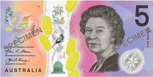 THE new $5 banknote released at the start of this month by the Reserve Bank.