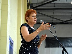 Standing ovation for Pauline Hanson in Rockhampton