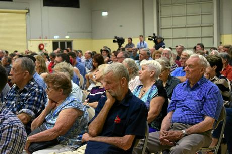 PACKED: Hundreds turned out to a Pauline Hanson rally in Rockhampton last night.