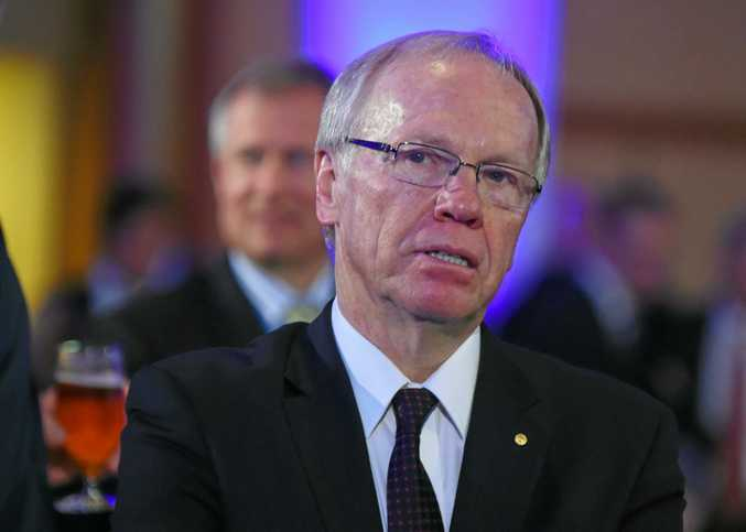 Former Queensland premier Peter Beattie attends the Australian Federal Treasurer Joe Hockey address at the National Press Club in the Great Hall at Parliament House, Canberra, Wednesday, May 13, 2015. (AAP Image/Mick Tsikas) NO ARCHIVING