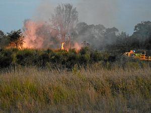 Firefighters extinguish grass fire at Kentville