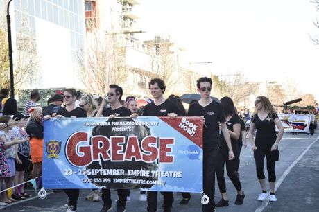 Toowoomba Philharmonic Society, Grease cast. Carnival of Flowers 2016. Grand Central Floral Parade. September 17, 2016