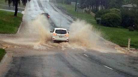 Road at Boundary St, Toowoomba, September 18.