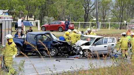 The crash which occurred along the Burnett Highway in Bouldercombe