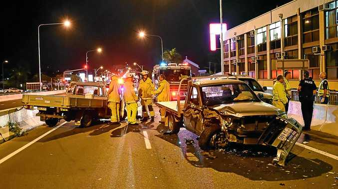 A driver involved in the three car crash submitted this photo of last night's smash.
