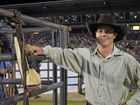 LOCAL BOY: Bull rider Roy Dunn grew up at Sarina and now lives at Proserpine. He hoped for success in front of the home crowd.