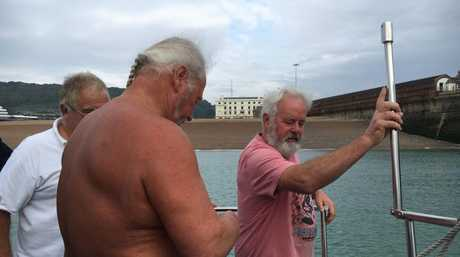 Chris Shapland prepares to swim the English Channel.