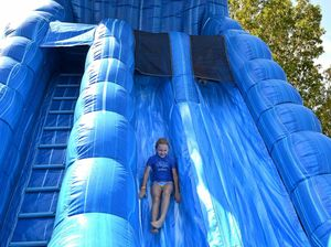 Slip easily into holiday mode with a cool new waterslide