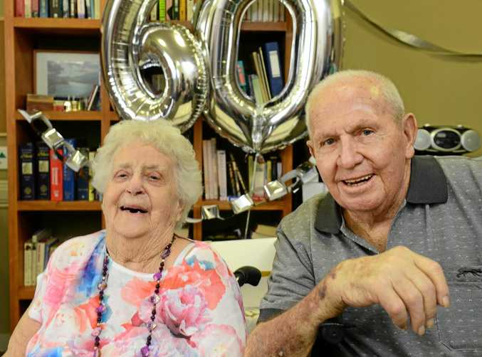 Peter and Gerry Boddington of Eastern Heights celebrate the 60th wedding anniversary and renewed their vows during a ceremony at Milford Grange Retirement Village.