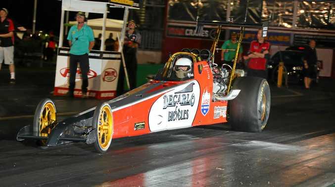 Willowbank Raceway Outlaws winner Bill Fletcher.