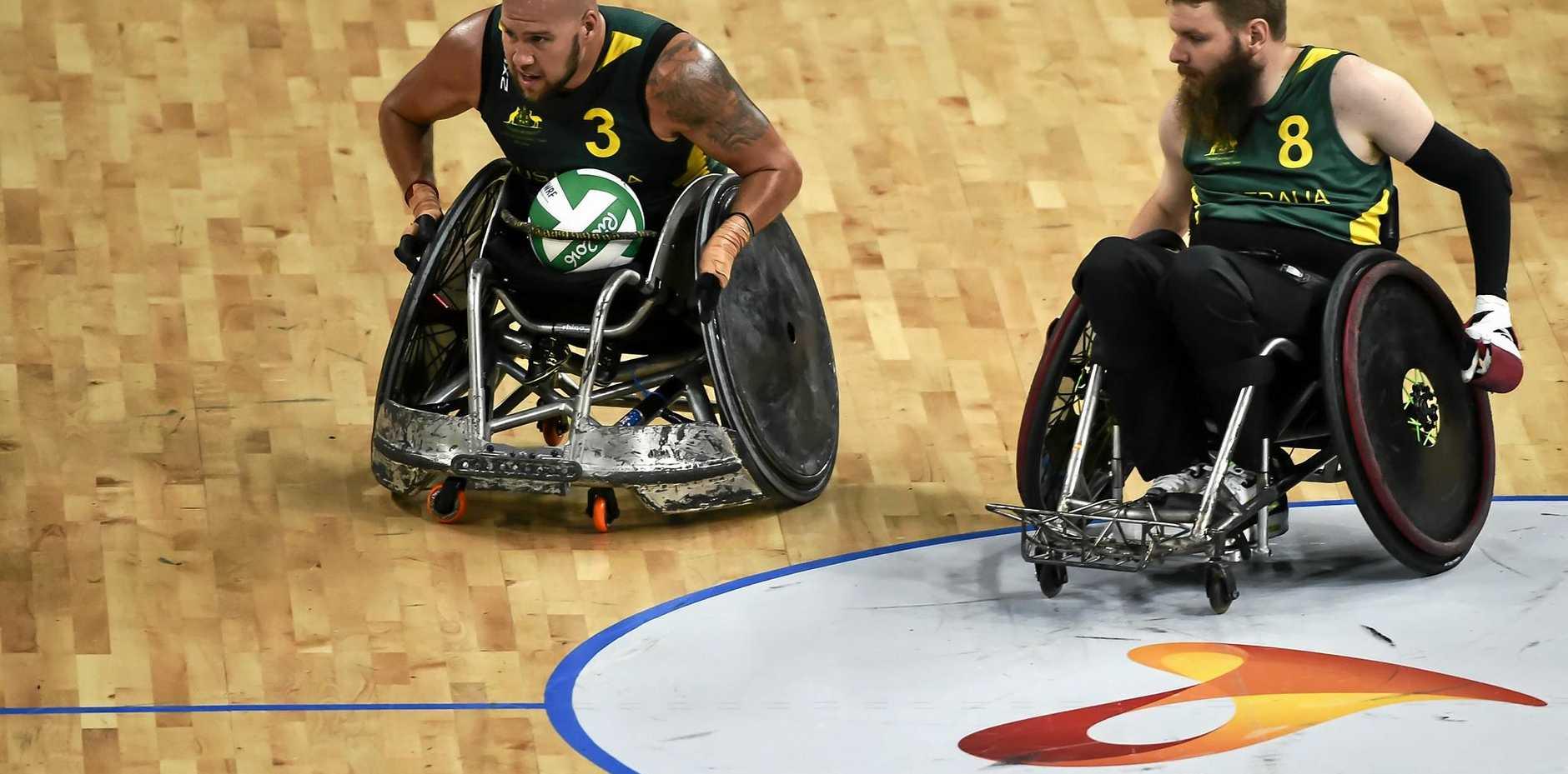 Ryley Batt (left) and Ben Fawcett in action for Australia