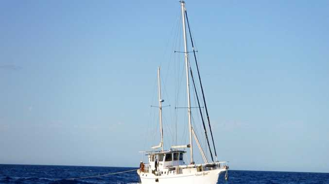 VMR: The boat that was rescued off the reef at Lady Musgrave Island.