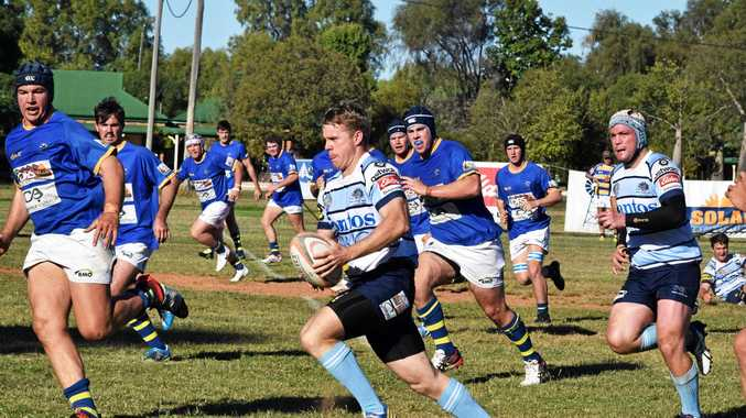 MUCH IMPROVED: Roma Echidnas and Dalby Wheatmen clash in Roma.