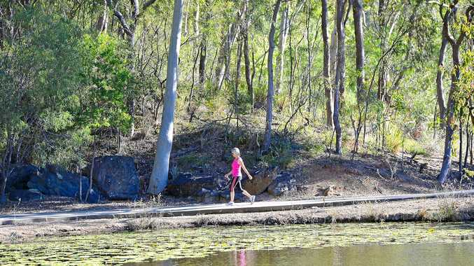 FIT TRACK: Reg Tanna Park, affectionately known as the duck pond, is one of Gladstone's favourite walking tracks.