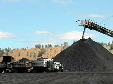 Bringing the coal up from underground.  Photo Kelly Butterworth / CQ News