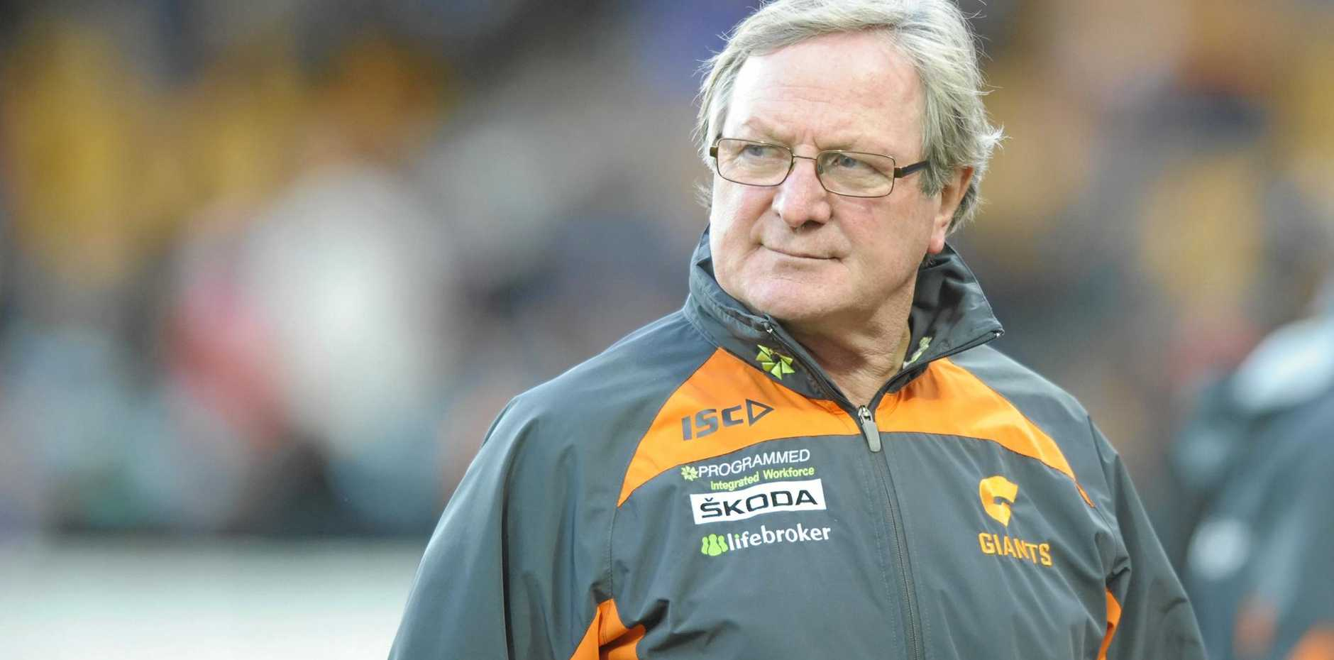 Kevin Sheedy during his time as GWS Giants coach in 2013.