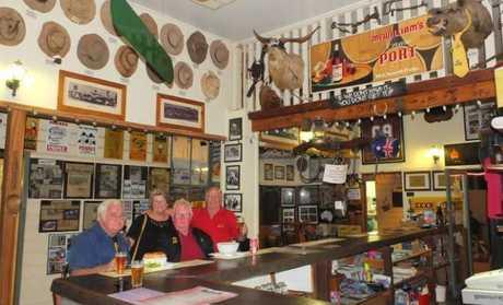 Inside the Nindigully Pub.