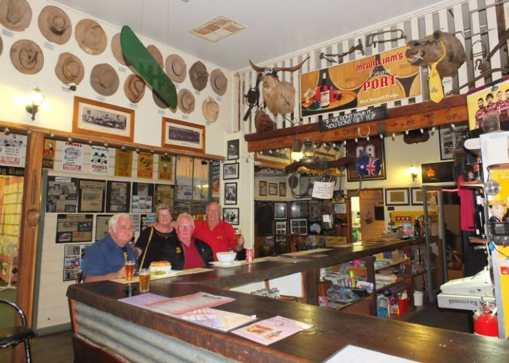 Inside the Nindigully Pub.