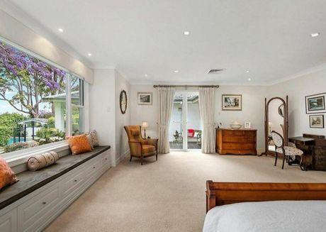 Inside the spectacular master bedroom.