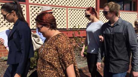 Courteney Pearl Matthews, 18, leaves Lismore Local Court.