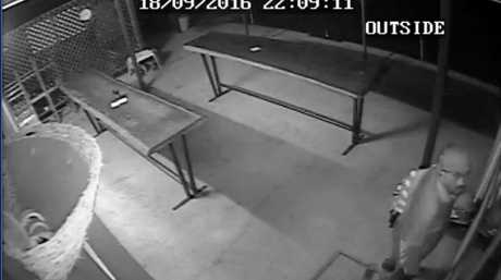 Gladstone Police are looking for this man who broke into the Mount Larcom Bowls Club, Mount Larcom State School and Mount Larcom Community Pool.