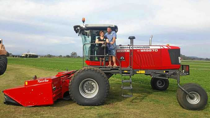 TOP CUTTERS: Fiona and Gain Thorne have been named one of Queensland's top hay producers.