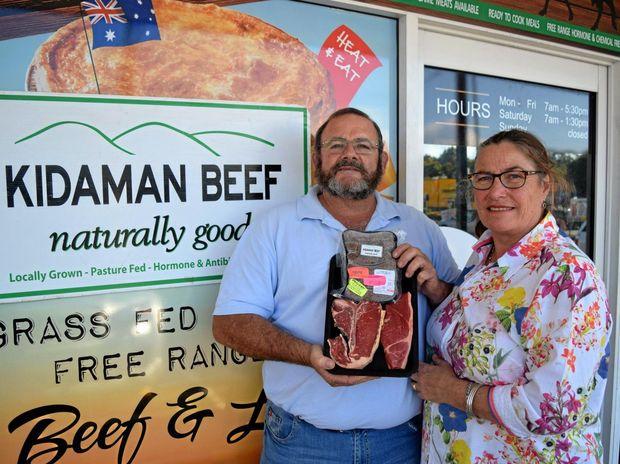 Kidaman Beef owners Jeremy and Kate Atkins say Sunshine Coast families deserve a mid-week farmers' market.