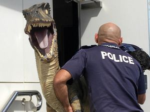 Dinosaur abandoned on mountain in police custody