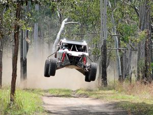 Off road racing tearing it up in Mackay