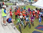 Tour de Bay charity bike ride - riders briefing before the 10km ride.