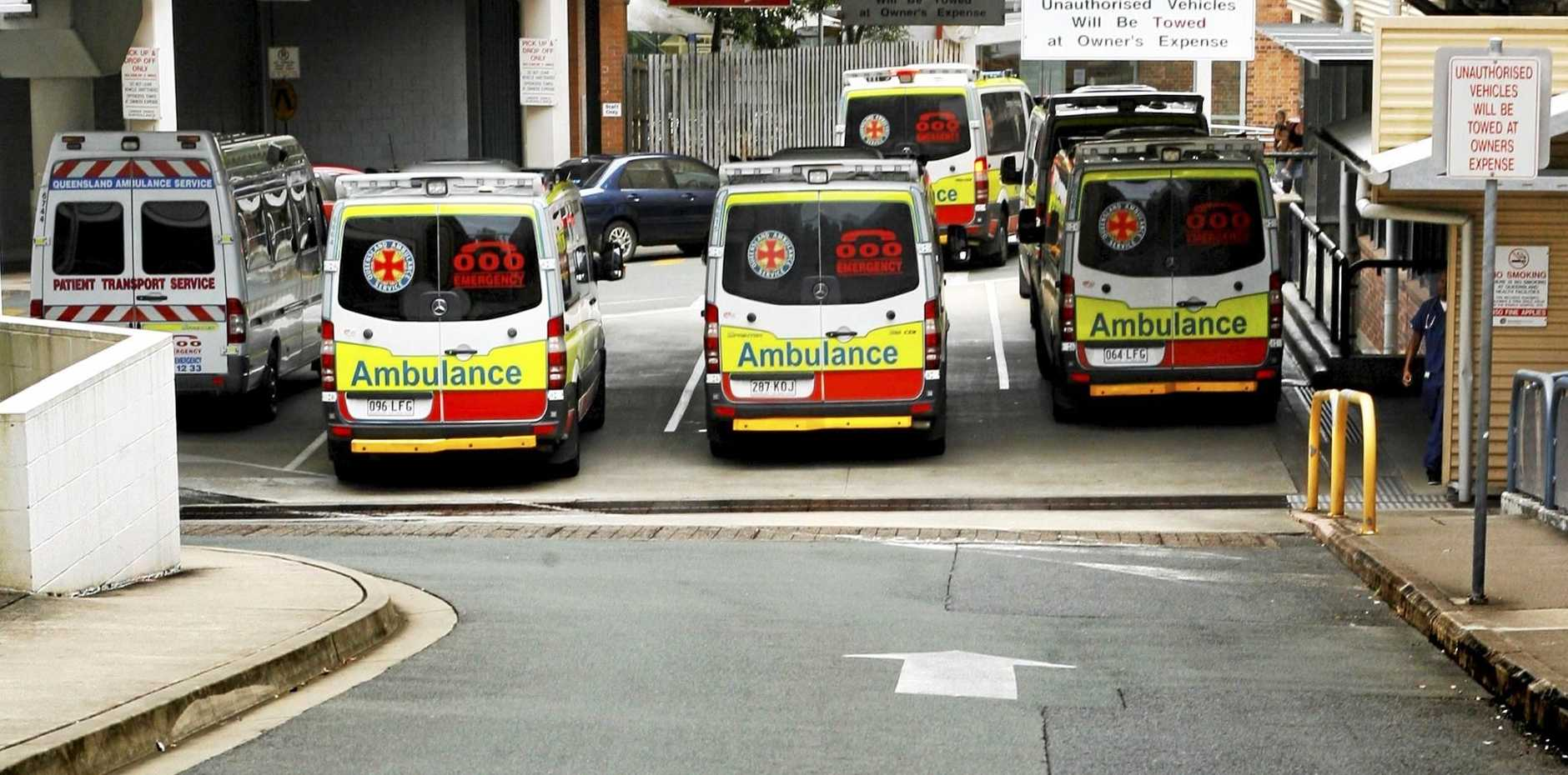 RECURRING ISSUE: Ambulances ramping at Ipswich Hospital back in 2011.