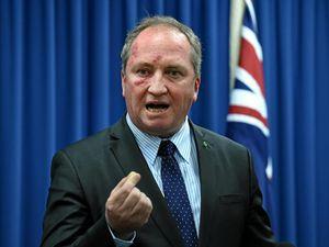 Barnaby Joyce and Bill Byrne clash over dam delay