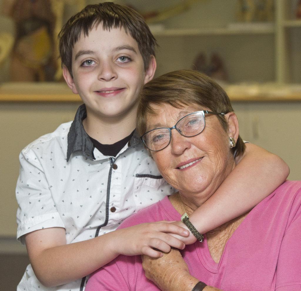 QAS AWARD: Hero Nicholas Coney, 9 with his grandma Clair Giamarelos.