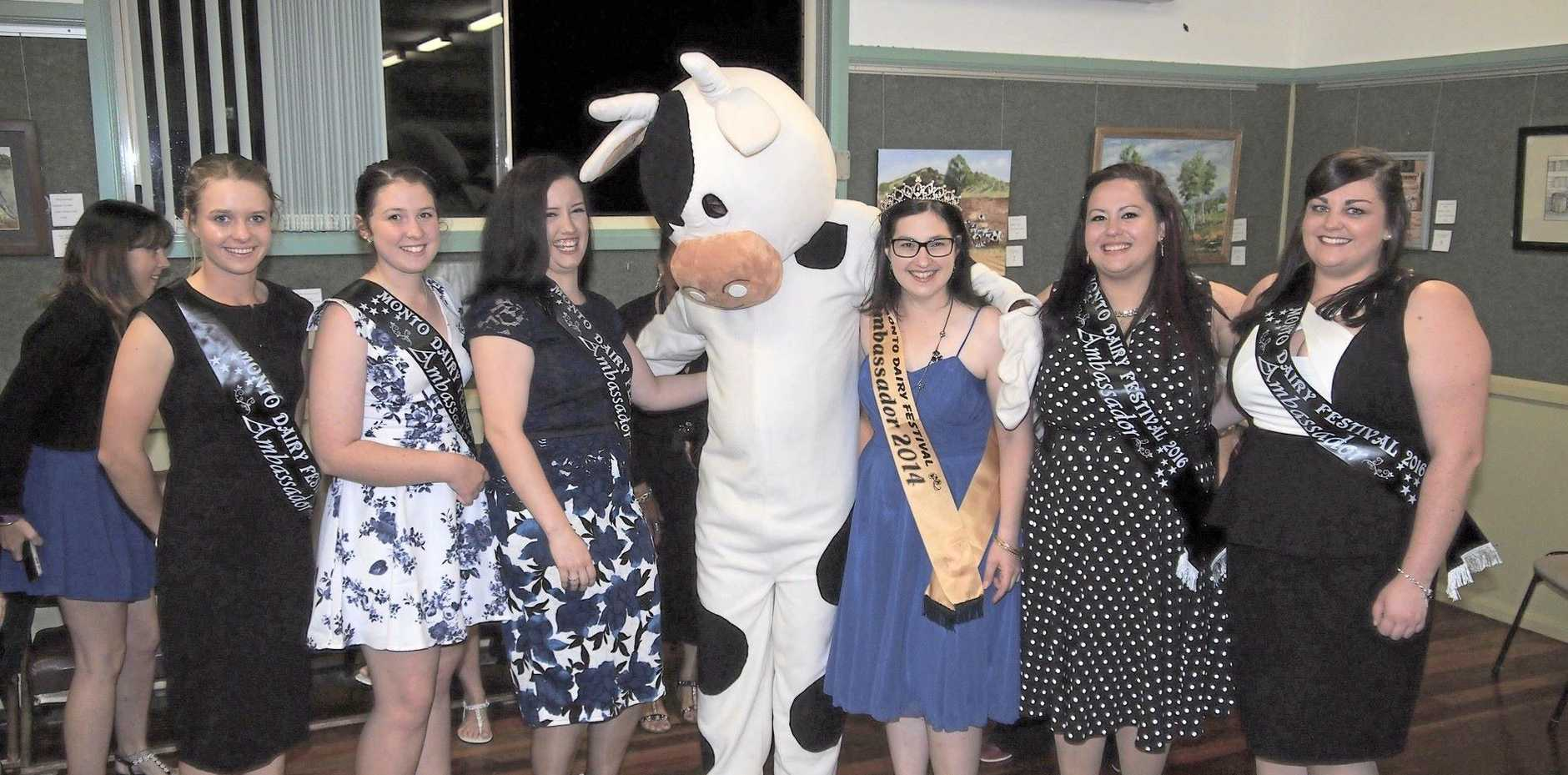 UDDERLY PROUD: The Monto Dairy Festival ambassadors.