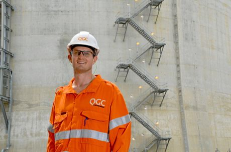 QGC trainee Mick Smith spoke about his experience in the process operator traineeship program at an information session for potential future employees.