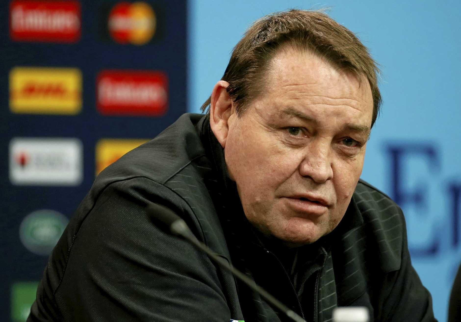 New Zealand rugby team head coach Steve Hansen.