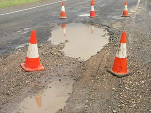 Imagine hitting this at 100kmh: Roads in ruin after big wet