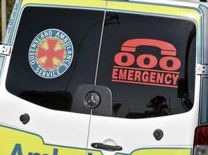 One person taken to hospital after motorbike, car crash