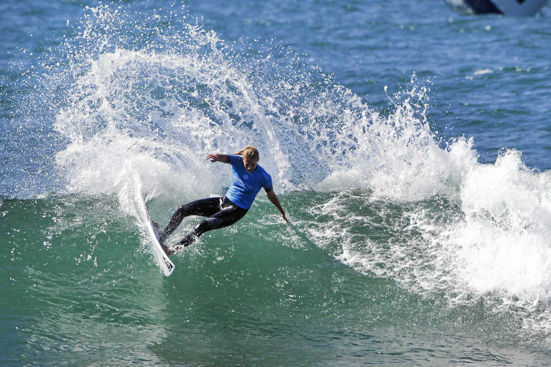 CARVING IT UP: Stephanie Gilmore on her way to a runner-up finish in the women's World Surf League event at Trestles.