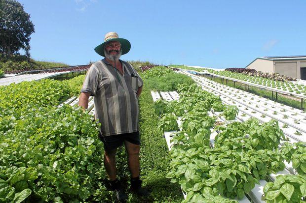 GRASSTREE GROWER: Dean Halpin from New Reef Hydroponics.