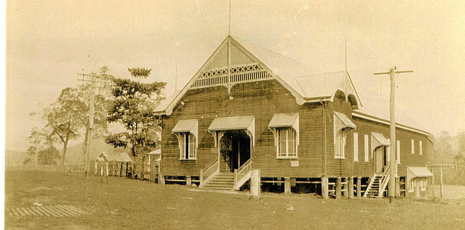 Yandina School of Arts in the early 1900s.
