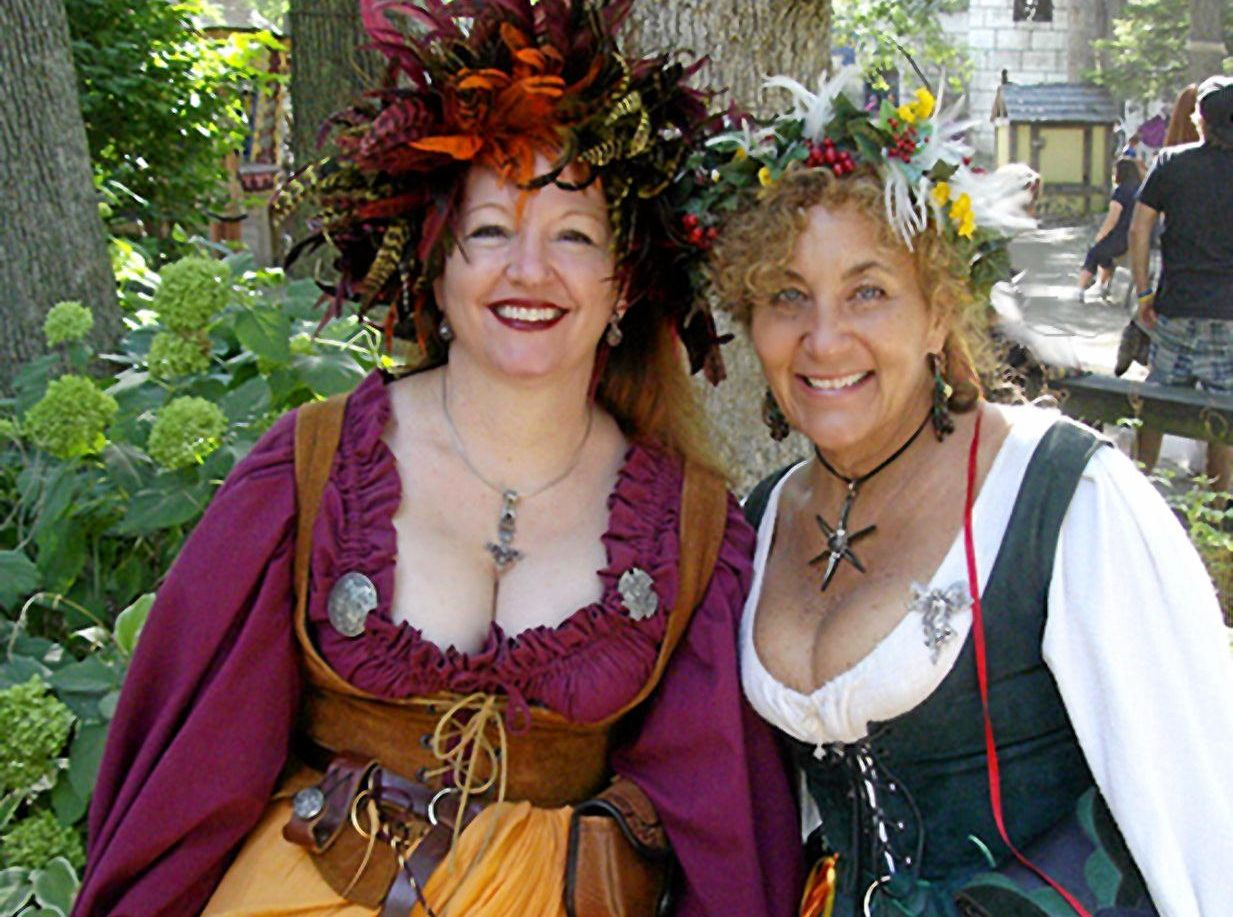 DRESS TO IMPRESS: Dressing up for the renaissance faire adds an extra element of fun, but is definitely not compulsory.